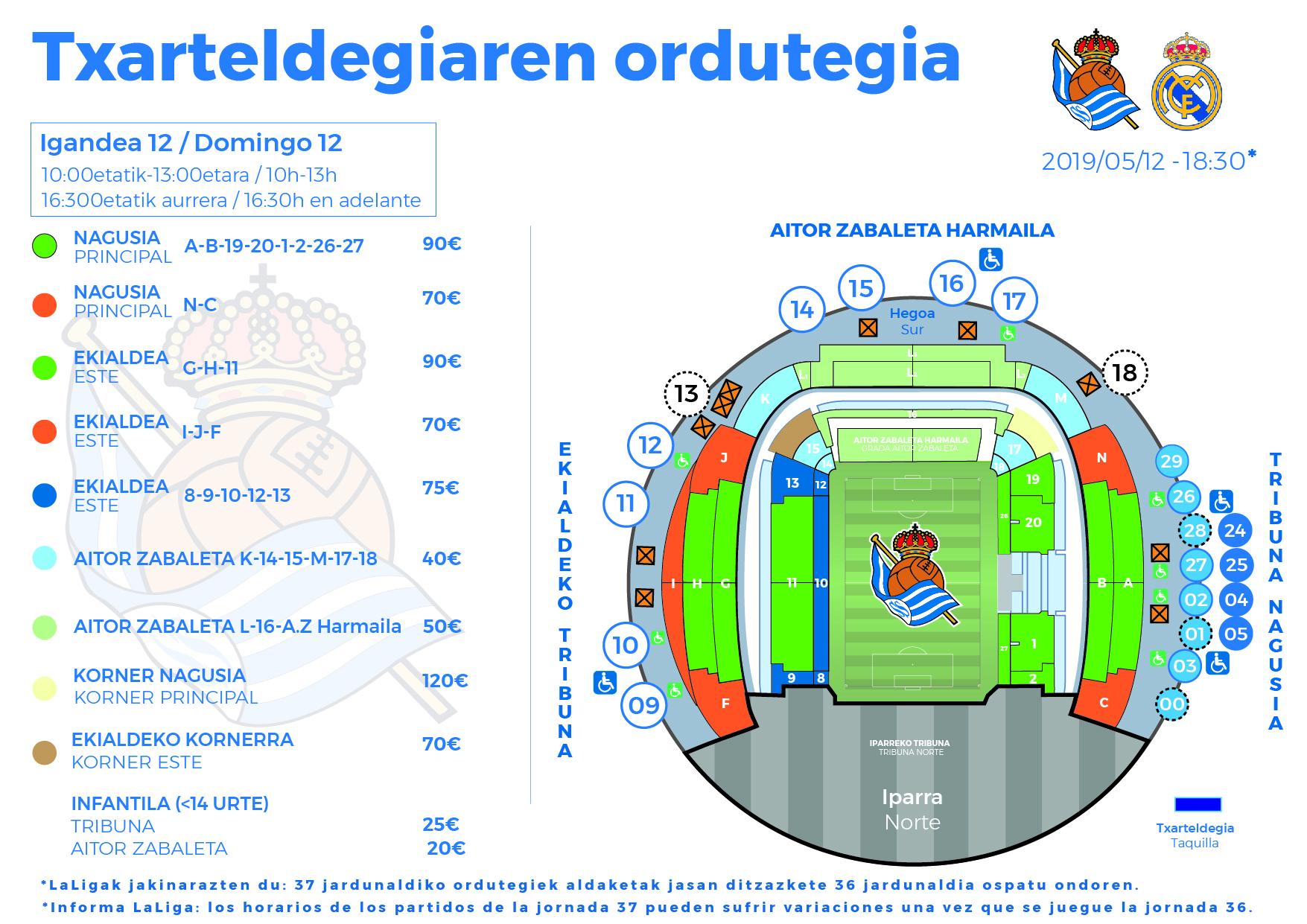 42e59b6db Las entradas adquiridas no admiten cambios ni devoluciones. La Real Sociedad  no se hará responsable de las entradas vendidas en canales no oficiales.
